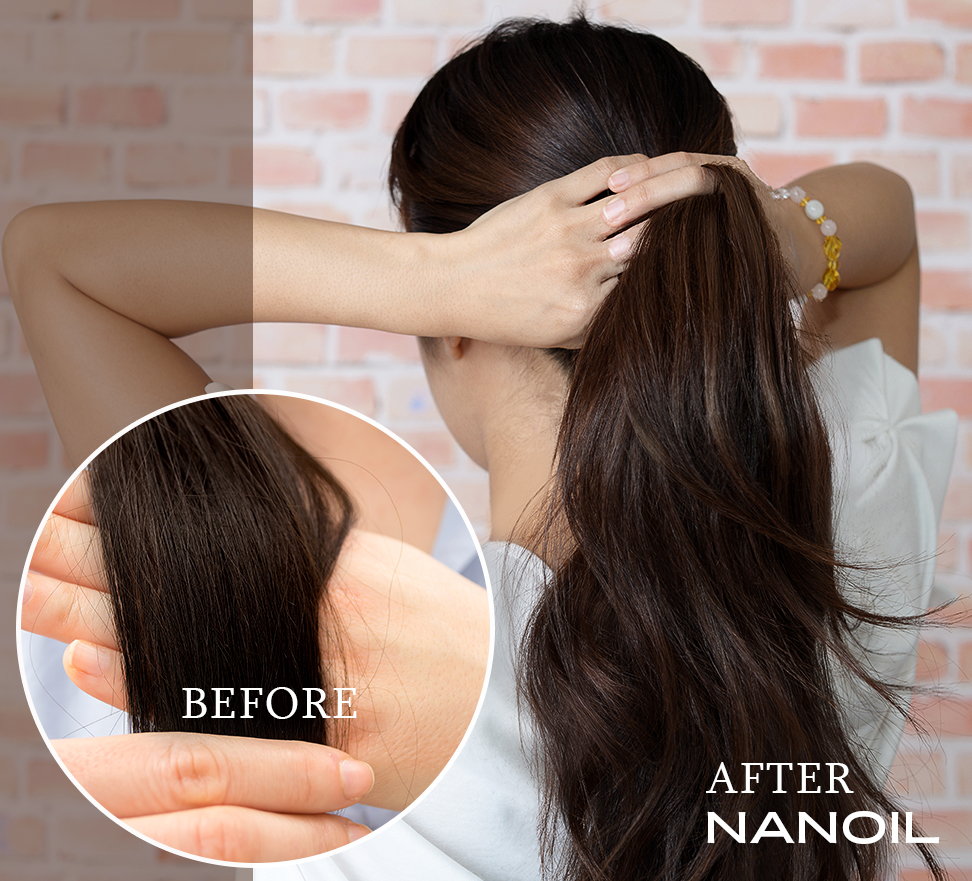 Nanoil - effects before and after