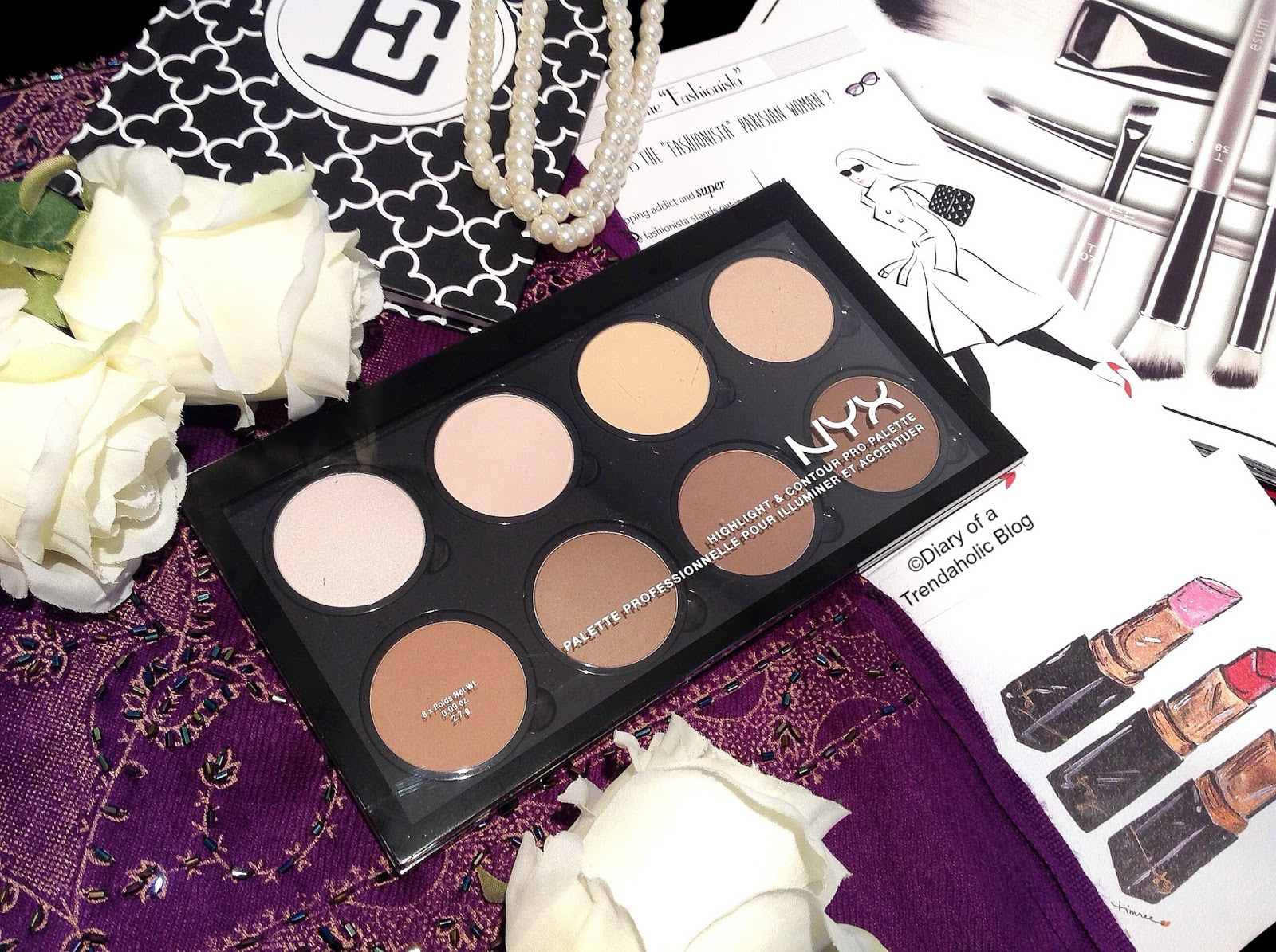 Face contouring always trendy! How to do it correctly with Highlight & Contour Pro Palette from NYX Cosmetics?