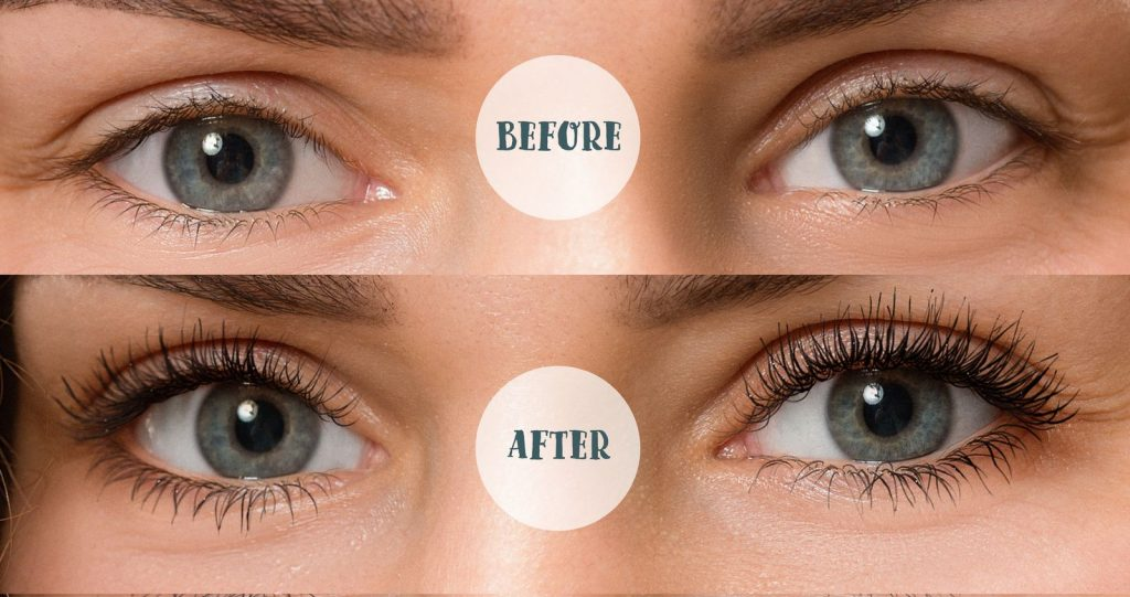 LASHCODE mascara – Effect in make-up
